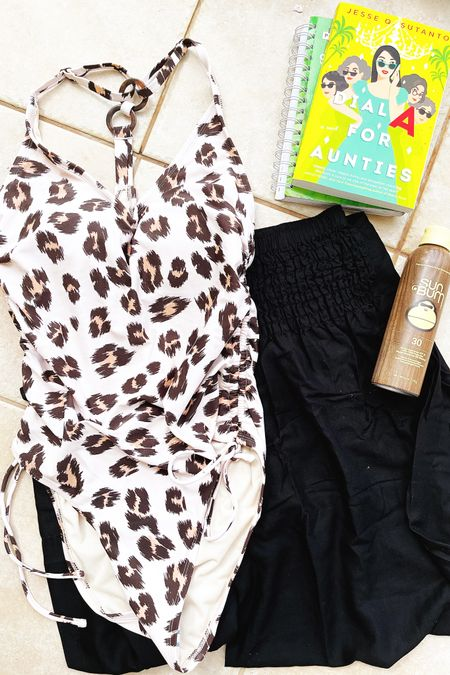 Swimsuit: less than $30! 🙌🏻 Sunscreen: reef friendly + long lasting + smells amazing 🙌🏻 Beach Pants: cozy, lightweight & super flattering 🙌🏻  Book: So entertaining & lots of laughs 🙌🏻 Sunny beach day: priceless ☀️☀️☀️   http://liketk.it/3eF8x #liketkit @liketoknow.it #LTKunder50 #LTKstyletip #LTKswim