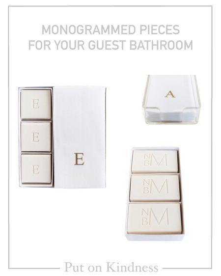 Home decor. Acrylic guest napkin holder. Monogrammed soap. @liketoknow.it http://liketk.it/3jKP7 #liketkit