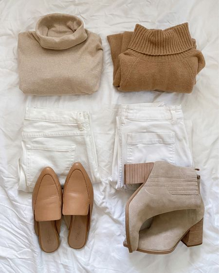 Neutrals are my fave! Turtlenecks from JCrew and jeans from Everlane. Loafers are madewell and boots are Marc Fisher  http://liketk.it/38k4L #liketkit @liketoknow.it #LTKunder100 #LTKshoecrush #LTKstyletip