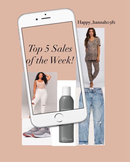 Shop Top 5 Sellers this Week including white denim, Nike sneakers, A&F denim, Living Proof dry shampoo, and maternity pajamas! #LTKbump #LTKunder100 #liketkit @liketoknow.it http://liketk.it/3dV6D