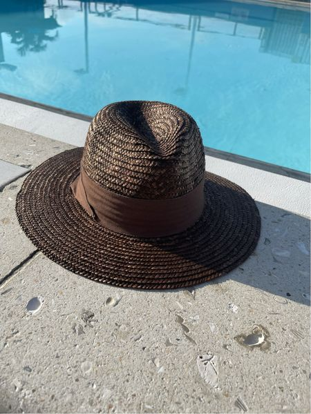 A chic Panama brown straw hat perfect for these last days of summer #competition  #LTKSeasonal #LTKunder50
