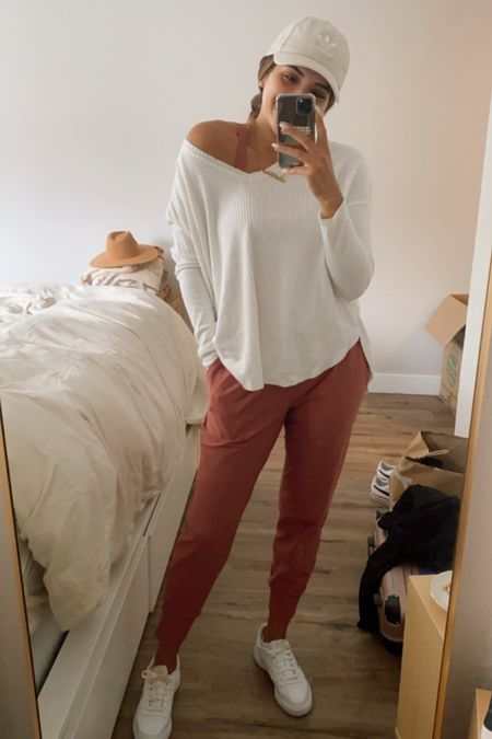 Casual matching workout set. Love this mauvey rose color for fall too!  #LTKstyletip #LTKSeasonal #LTKunder50