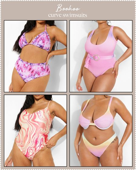plus-size swimsuits at Boohoo on sale!   #LTKSeasonal #LTKswim #LTKDay