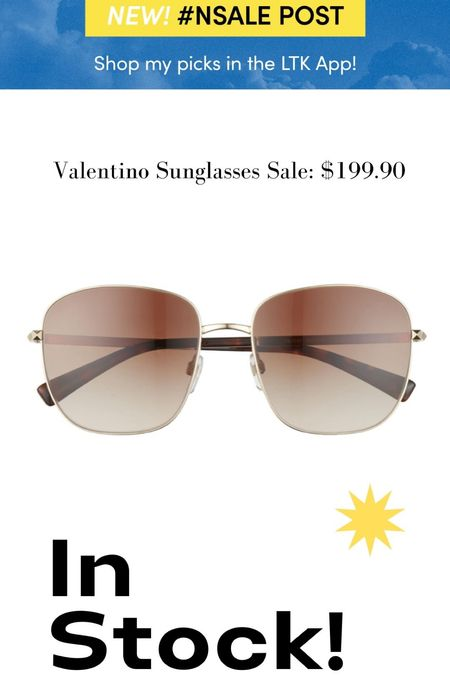 Stuffed Valentino sunglasses are still in stock and in the Nordstrom Anniversary sale. Loving these luxe gold framed sunglasses for a cool vibe #nsale #nsale2021 #nsaleaccessories  #LTKsalealert #LTKtravel