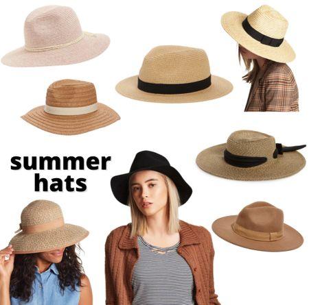 Floppy sun hats, fedoras, strap raffia hats - oh my! Gearing up for the warmer months with these summer staples.   #LTKunder50 #LTKsalealert #LTKtravel