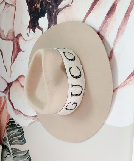 Fall hat Gucci hat Gucci headband Fall fashion  #guccihat #gucciband #gucciheadband #guccisweatband #guccidupe #fallhat #fedora #widebrimhat #fallfashion #hat  #LTKSale #LTKunder50 #LTKunder100