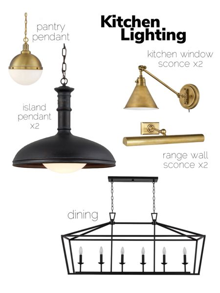Kitchen pendant, kitchen lighting, picture light, brass light, wall sconce, dining chandelier, pantry pendant, brass pendant, brass sconce   #LTKhome #LTKsalealert