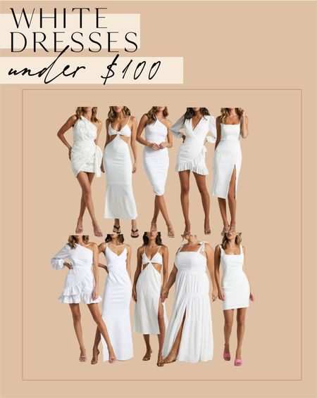 White dresses under $100!