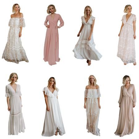 Bump-friendly gowns that can be worn for your maternity pictures and afterwards!  #LTKfamily #LTKbump #LTKbaby