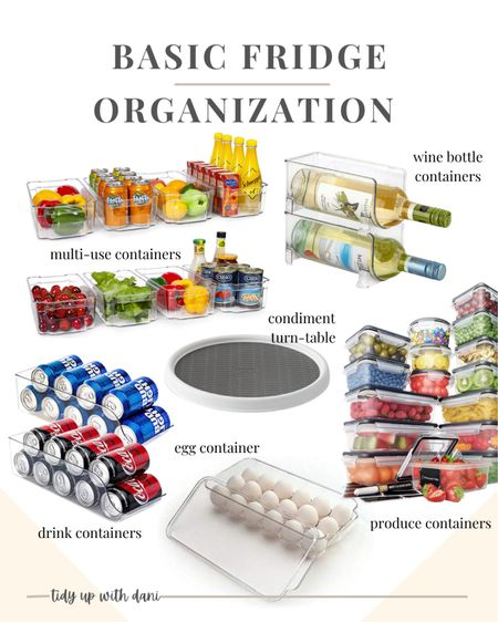 Best fridge organization bins for beginners from Amazon. Organize your fridge on a budget. These fridge organization containers are pretty and practical! It doesn't matter if you have a small fridge or a side by side fridge.   #LTKunder50 #LTKhome