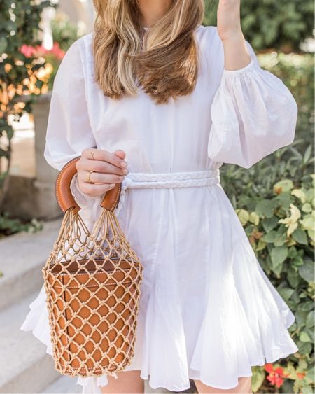 Came for the dress, stayed for the @staud bucket bag. 👜  Might be my best pre-loved find yet! It inspired me to go digging for more spring handbags—sharing what I found on the blog, including some *very* pretty under $100 options. Sneak peek in stories, full list at the link in my IG bio! #bucketbag #springfashion #staud  #whitedress #whiteminidress #minidress #ontherhode #whatimwearingnow #styleinfluencers #spotmystyle #blogging4style #thecaptionclub #bloggervibes #smallblogger #stylelookbook #bloggerofinstagram #ltkit #bloggersofig #blogginglife #whatshewore #springstyle2021 #womenhandbags #springaccessories #springbag #wovenbag #bagcrush #ltkseasonal #ltkitbag #vacationoutfit #ltkspring
