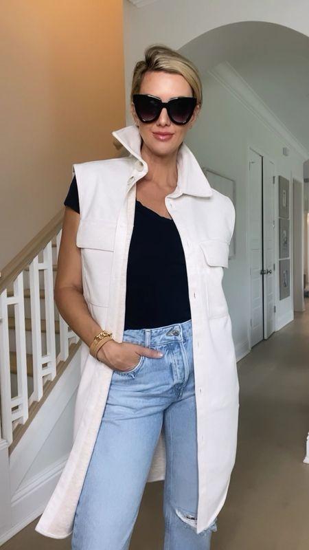 elevate your jeans & tee with a long line vest   #LTKunder50 #LTKunder100 #LTKstyletip