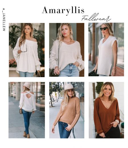 This is my first time finding out about Amaryllis and I'm already hooked! #amaryllis #fallwear #fall #falloutfits #sweater #oversized #knit #cableknit #puffsleeves   #LTKHoliday #LTKSeasonal #LTKGiftGuide