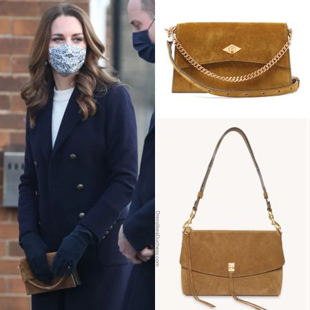 Kate carrying Metier Roma mini #crossbody #camel #suede  Rebecca Minkoff dupe on sale  #LTKeurope