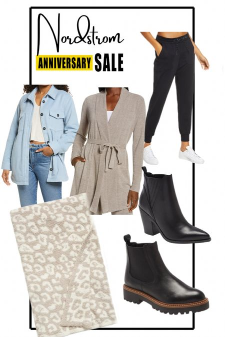 Nordstrom anniversary sale items still in stock! Shacket, barefoot Dreams blanket, barefoot Dreams robe, joggers, black boots  #LTKshoecrush #LTKunder100 #LTKsalealert