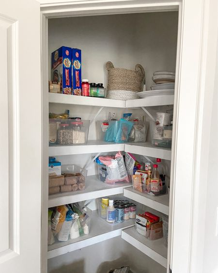 Pantry transformation! This was so satisfying to complete. Clear bins are from The Container Store! http://liketk.it/2YzOU #liketkit @liketoknow.it Need to get some Labels next!