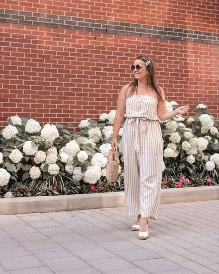 With the summer-in-fall kind of weather we've been having, I've been getting a lot of wear out of this jumpsuit. I'll even wear it as the weather cools down with a denim jacket, or a sweater on top to make it looks like pants. The best part for you, is that it's now only $25!!  http://liketk.it/2FsXt @liketoknow.it #liketkit