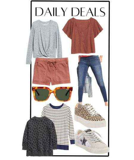 Daily deals! Sweatshirt tunics on sale, old navy, fashion sneakers, star sneakers, leopard sneakers, jeggings, free People look for less, quay sunglasses sale, casual outfit, casual style   #LTKunder50 #LTKsalealert #LTKSeasonal