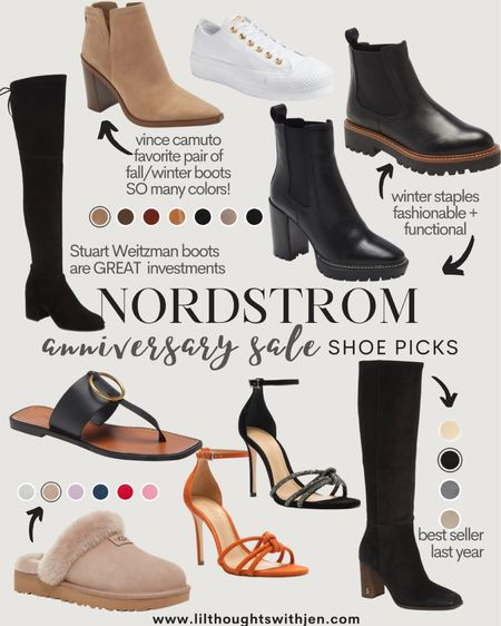 Nordstrom anniversary sale shoe picks!! The best time to invest in boots for the fall and winter seasons; the stuart Weitzman OTK boots and vince camuto booties are my favorite http://liketk.it/3jL2K #liketkit @liketoknow.it #LTKunder100 #LTKshoecrush #LTKsalealert