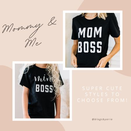 Mom boss and mini boss shirts for mom and daughter mom style   #LTKunder50 #LTKkids #LTKstyletip