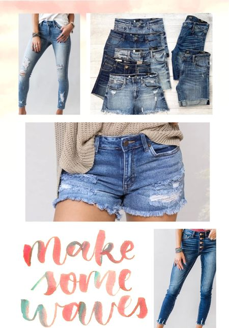 Denim and cute denim at that all on sale right now! I need like every pair of these denim distressed shorts don't you?!   #LTKsalealert #LTKunder50 #LTKSpringSale
