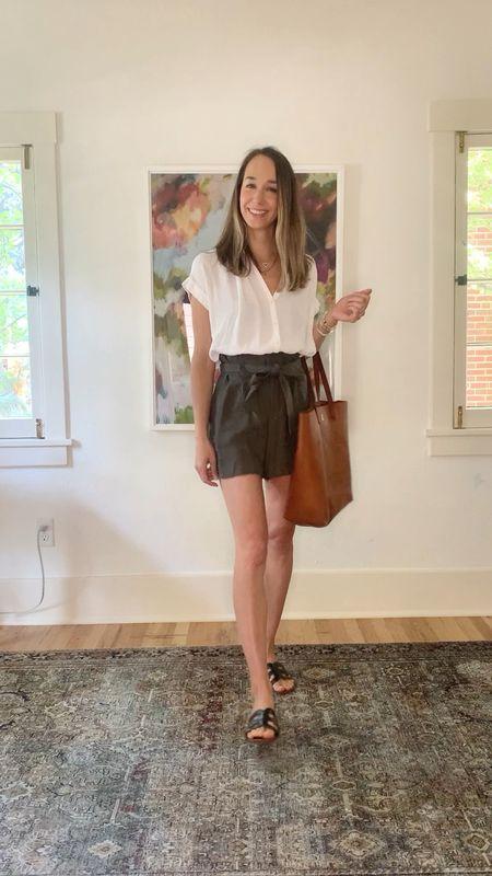3 ways to wear paper bag shorts this summer! Which way is your favorite?!   #LTKunder100 #LTKshoecrush #LTKstyletip