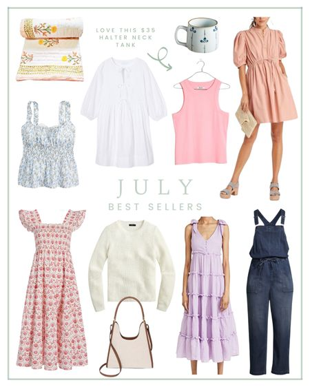 July best sellers of the month included the Hill House nap dress, a Madewell tank, and a white poplin dress.  #LTKsalealert #LTKSeasonal #LTKunder100