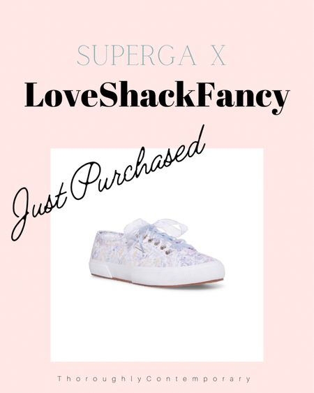 The newest collection of Superga and LoveShackFancy sneakers are here! If you love florals and girly style you want want to miss this!  #loveshackfancy #preppy #floralshoes #sneakers #supergashoes #loveshackfancyshoes  #LTKshoecrush