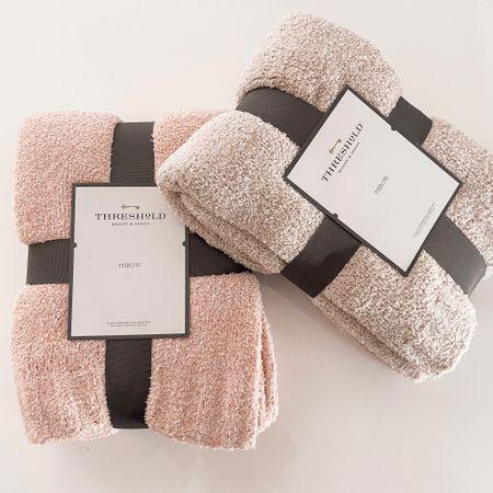 Targets barefoot dreams dupe blankets are back in stock!     #LTKunder50 #LTKGiftGuide #LTKHoliday
