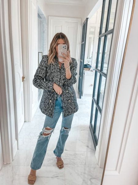 Anine bing coat size small and jeans wearing size 25 use code cella10 for 10% off   #LTKstyletip #LTKsalealert