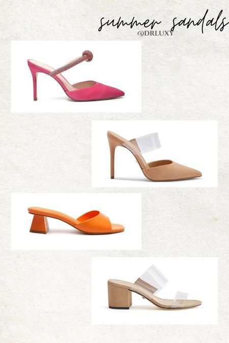 Loving these heels for summer  Mules  Nude shoes  Clear shoes Colorful heels  Summer outfit     #LTKSeasonal #LTKstyletip #LTKshoecrush