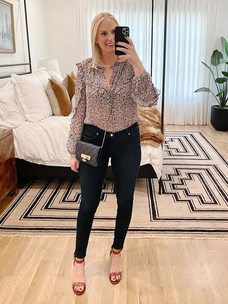 Today's outfit! My blouse from the #nsale is back in stock and 40% off! I'm wearing the 8. #ootd #outfitinspo #fallstyle #fallfashion #falloutfit #nordstrom #veronicabeard  #LTKsalealert #LTKstyletip