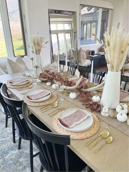 H O M E \ #fall table 🍂  #falldecor #homedecor #diningtable #diningroom  #LTKhome #LTKSeasonal #LTKunder50