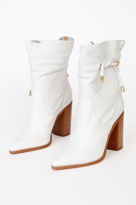Lulus white boots, high heel pumps, wedding heels, wedding shoes, white pumps, white high heels, white chunky heels, white heels with gold heel @shop.ltk #liketkit #LTKstyletip #LTKshoecrush #LTKcurves #LTKitbag #LTKsalealert #LTKwedding #LTKfit #LTKunder50 #LTKunder100 #LTKstyletip #lulus #lovelulus