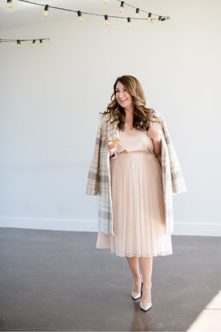 Such a great outfit for any holiday party or event this season!  Gibsonlook x Hi Sugarplum Holiday Collection   Use code RYANNE15 to save 15% on the entire collection!   Fit tips: top tts, L // skirt tts, L // coat tts, L   #LTKstyletip #LTKshoecrush #LTKHoliday