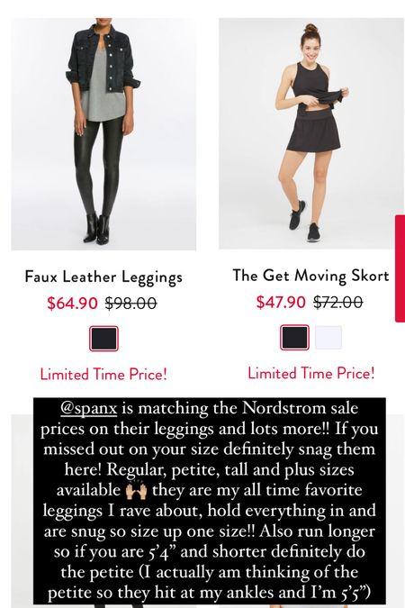 SPANX sale!! faux leather leggings- size up one size!   #LTKsalealert #LTKunder100