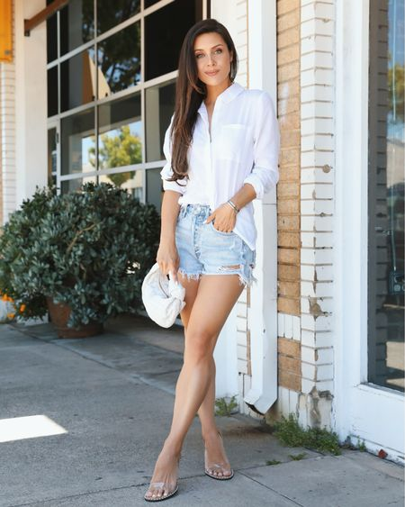 Sometimes all you need is a pair of denim shorts and a good oversized button down for an effortless Summer date night look.👌🏻 @liketoknow.it #liketkit http://liketk.it/3hVbG #LTKunder50 #LTKstyletip #LTKshoecrush