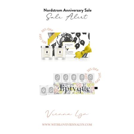 My favorite home items from the Nordstrom Anniversary Sale! Diptyque and Jo Malone!   #LTKsalealert