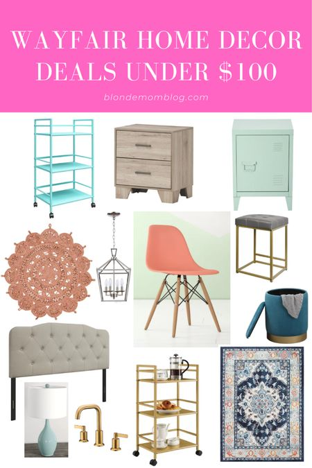 Wayfair is one of my fave go to places to look for home decor and furniture. They're having a huge sale!  #wayfair #wayday #flashdeals #homedecor #barcart #rattan #bar #headboards #lamps #rugs #boho #lighting #gold #golddecor #goldhardware #kohler   #LTKhome #LTKunder100