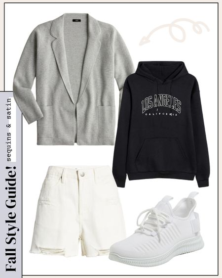 Loving this casual cute look with all the neutral color options! #amazonfashion #hoodies #walmartfinds #shorts #jcrew   #LTKunder50 #LTKshoecrush #LTKstyletip