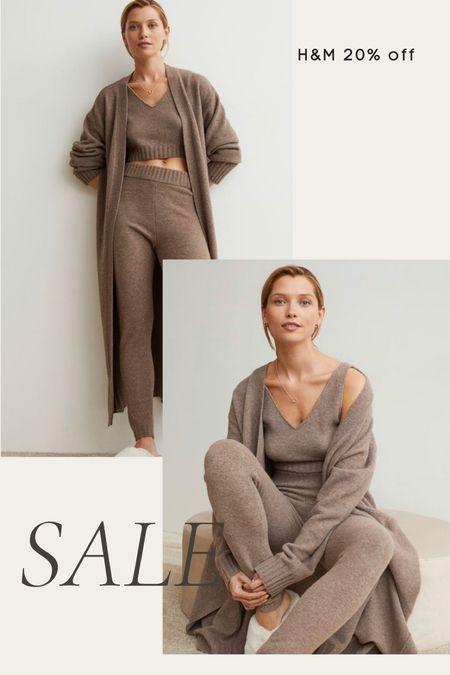 H&M sale 20% off- cozy knit loungewear set, casual, fall, winter  #LTKunder100 #LTKsalealert