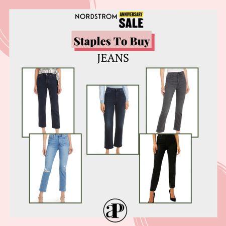 Nordstrom Anniversary Sale - Staples to Buy - Straight Leg Jeans #nsale #liketoknowit   #LTKsalealert