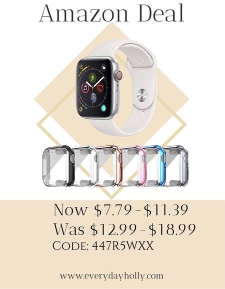 Amazon Deal! 6 Pack Apple Watch Case with Ultra-Thin Screen Protector Compatible with iWatch 38mm 40mm 42mm 44mm, Full Coverage Case for Apple Watch Series 3/4/5/6/SE   #LTKfit #LTKsalealert #LTKunder50  #LTKunder50 #LTKsalealert #LTKfit