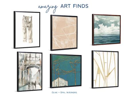 We've found great and affordable art at Great Big Canvas.  Home decor, abstract art, large art, art inspiration, canvas art, framed art  #LTKhome