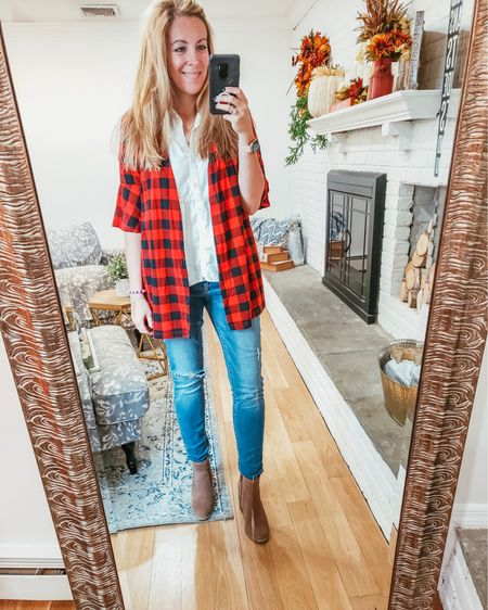 I'm redecorating my house as we speak and found a new spot for my full length mirror. Right next to a window. Bliss!  . . Bought this #buffalocheck piece online during a 24 hour sale and have worn it 15 times already. Obsessed. Perfect for the Fall.  . . What are your go-to patterns for the season?  . .  http://liketk.it/2FX90 #liketkit @liketoknow.it #LTKunder100 #LTKunder50 #LTKstyletip #LTKsalealert