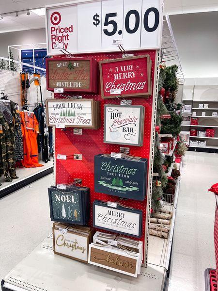 Target $5 Christmas wall signs!   #LTKhome #LTKHoliday #LTKSeasonal