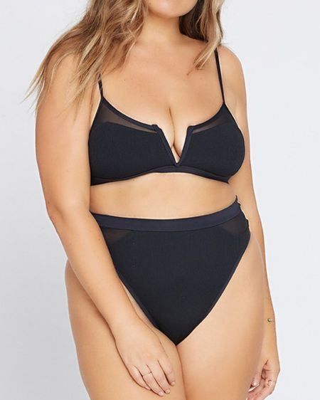 Ribbed Sadie Bikini Top + Bottom from L*Space | Such a classy combo of coverage and sex appeal. I have this in both cream and black, that's how much I love this suit!   #LTKswim #LTKcurves #LTKtravel