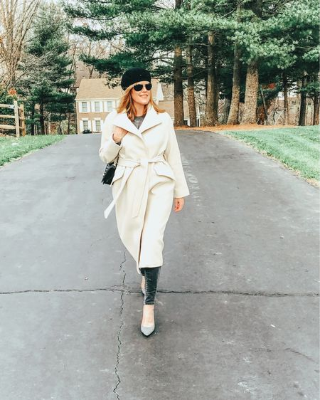 ✨ Make it a December to remember ✨ and make it a cozy one! In love with this neutral belted wool coat, made in Italy with recycle materials. Screenshot this pic to get shoppable product details with the LIKEtoKNOW.it shopping app @liketoknow.it #liketkit http://liketk.it/32YVJ