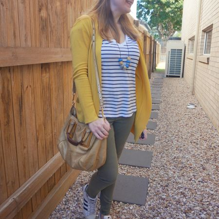 Mustard and olive 💛💚 I feel I wear this mustard cardi with olive a lot 😅 Such a good combo! And you can't go wrong with a striped tee and jeans - even though I did get a little chilly wearing this and I wished I'd added a scarf when it rained a little on the way to school drop off! Was just nice to get back to the school run and our regular appointments as I wore this on the first day after out 8 day lockdown ended in Brisbane. Even though there are still some restrictions in place feeling really lucky lockdown was lifted 💛  --------------   -------------- ------------ ----------------- --------------------  Screenshot this pic to shop the product details from the @liketoknow.it app, or click here: http://liketk.it/3lZap #liketkit #LTKitbag #chloebag #chloeethel #jeansandtee #everythingLooksBetterWithABag #everydaystyle #realeverydaystyle #wearedonthestreet #realmumstyle #nevervainalwayscolour #mumlife #Brisbanestyle #winterstyle