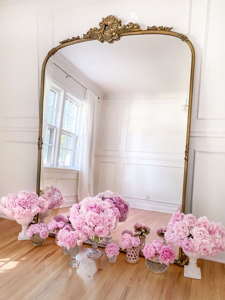 Ornate mirrors and peonies are such a pretty combo! 🌸    #LTKhome #LTKunder50 #LTKunder100